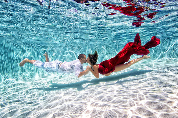 Fotos de embarazadas bajo el agua