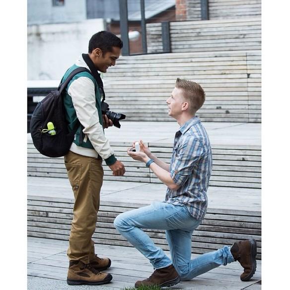 Fotógrafo capta propuestas de matrimonio