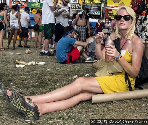 Chicas en festivales