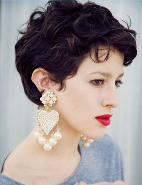 Cortes de cabello para mujeres corto ondulado
