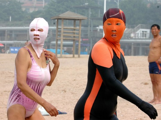 Facekini, moda china