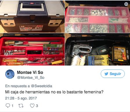 Reacciones en Twitter al kit de herramientas para mujeres de Amazon