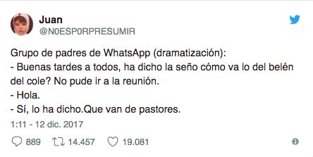 Hilo viral de Twitter sobre grupos de padres
