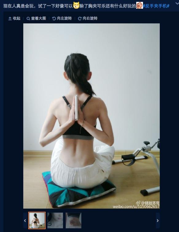 Moda china de las palmas en la espalda