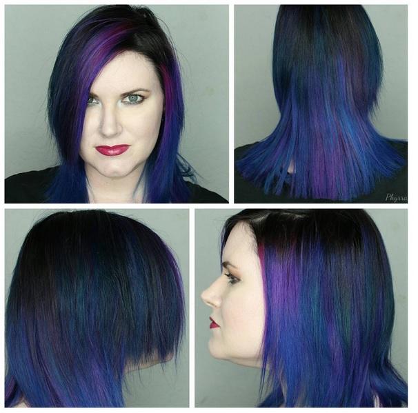 Oil slick: técnica para teñir de colores cabellos oscuros