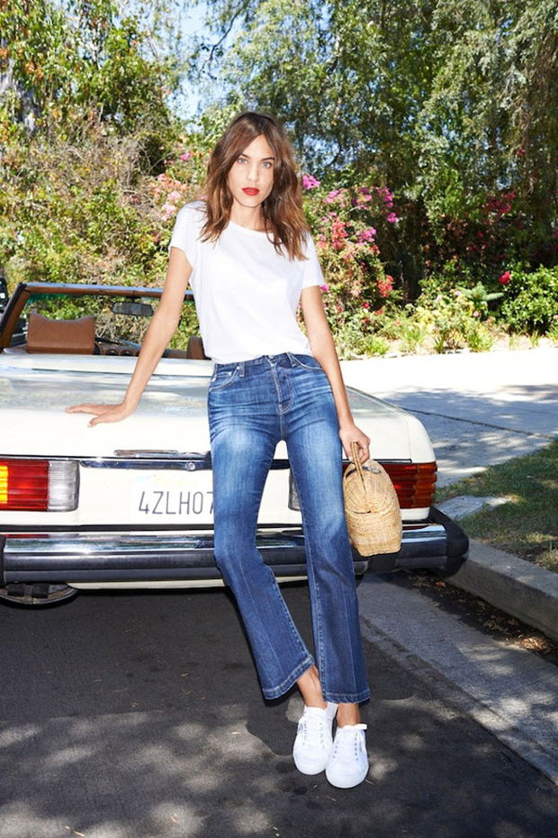 Tendencia cropped flare jeans