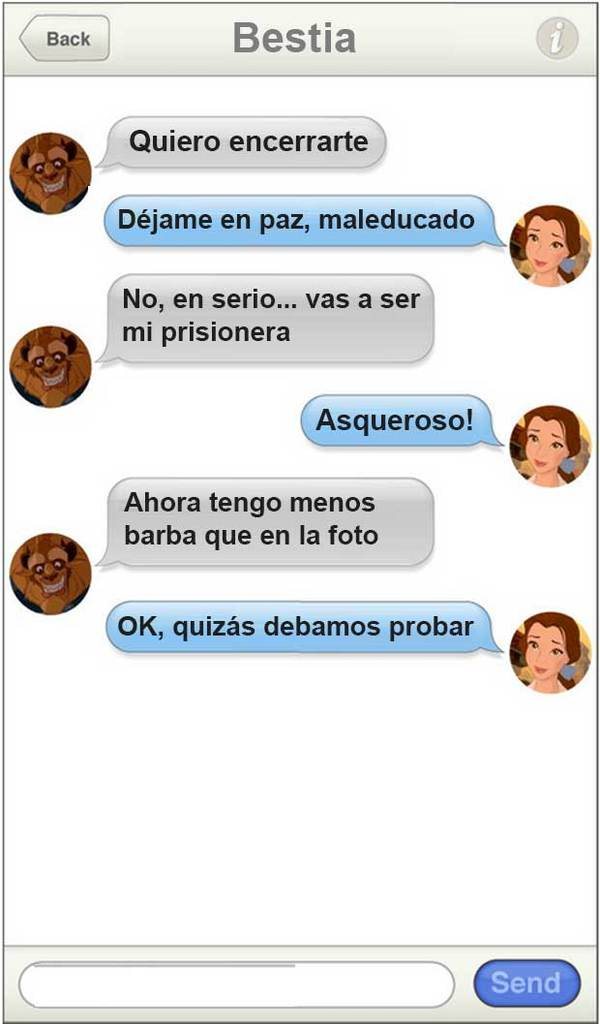 Parejas Disney ligando por WhatsApp