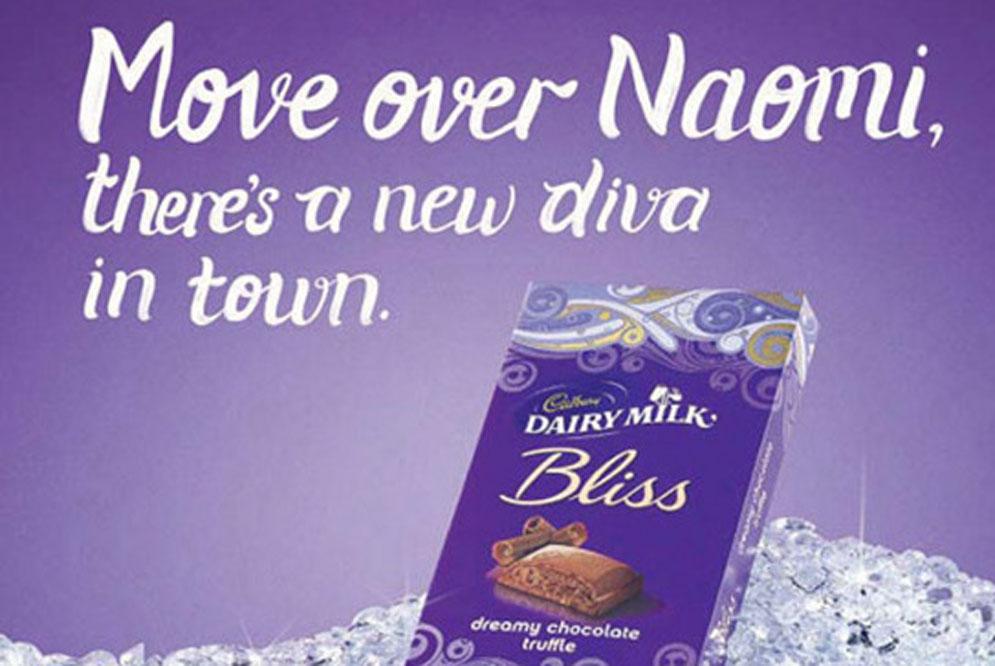 Naomi Campbell enfadada con Cadbury por un anuncio racista