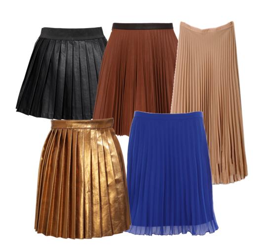 Faldas plisadas, el retro más moderno