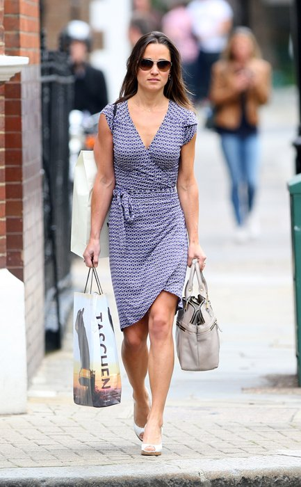 Pippa Middleton fan del wrap dress