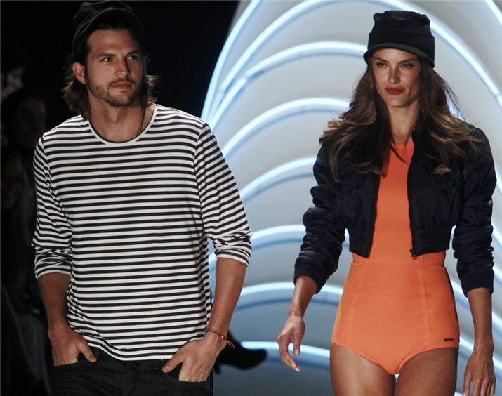 Ashton Kutcher se mete a modelo