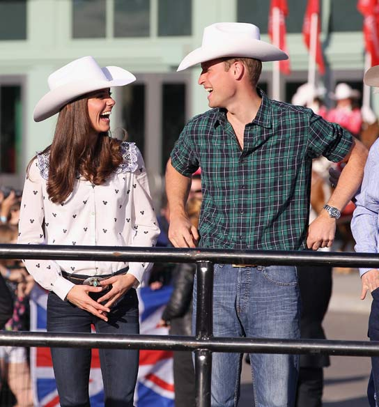 Kate Middleton con estilo cowboy
