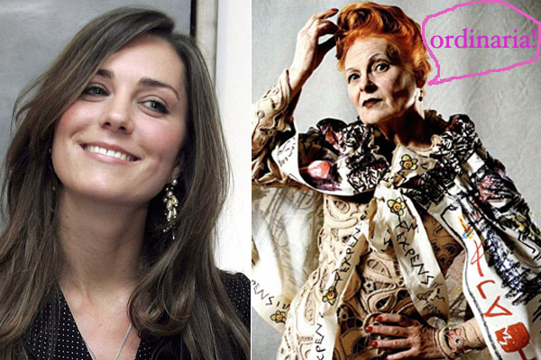 Vivienne Westwood critica a Kate Middleton