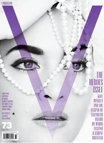 Kate Winslet como Elisabeth Taylor en la portada de la revista V