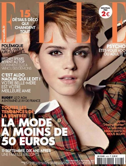 Emma Watson llena de magia la portada de Elle Francia