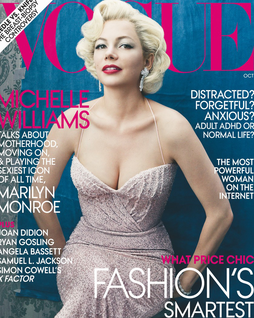 Michelle Williams emula a Marilyn Monroe para Vogue