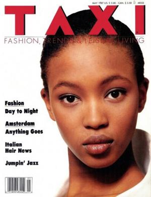 La primera portada de Naomi Campbell