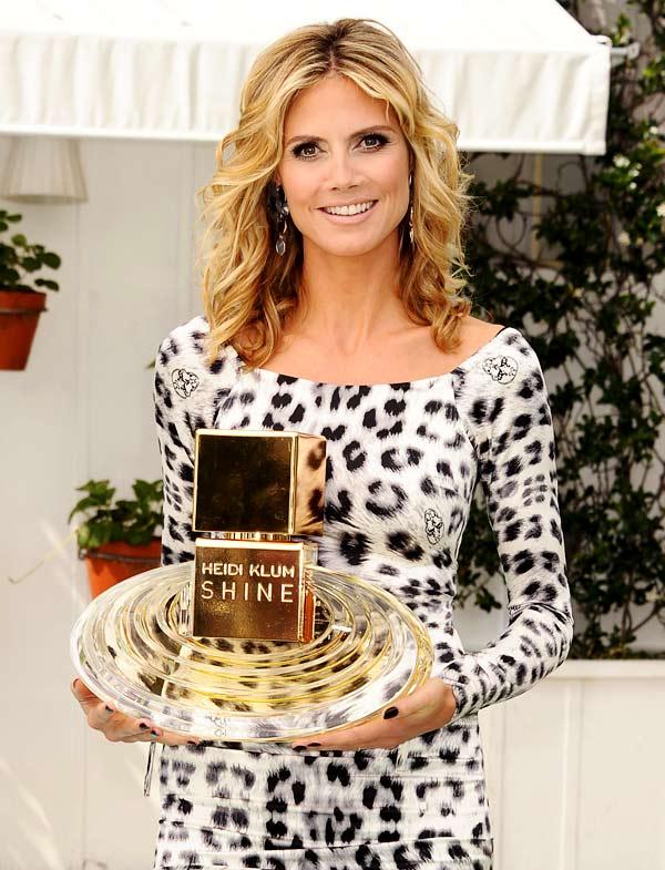 Heidi Klum presentó en LA su nueva fragancia, Shine