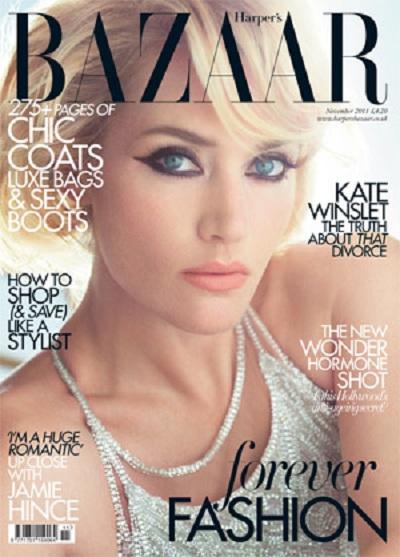Kate Winslet, oda al eyeliner en la portada de Harper's Bazaar UK