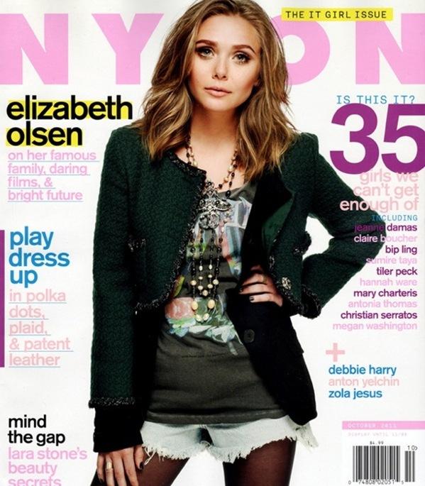 Elisabeth Olsen se come a sus hermanas en la portada de Nylon
