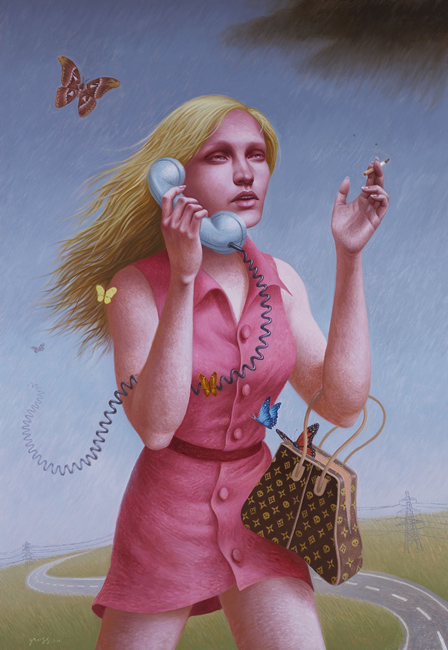 Alex Gross. Se ha colado un Vuitton en mi obra de arte