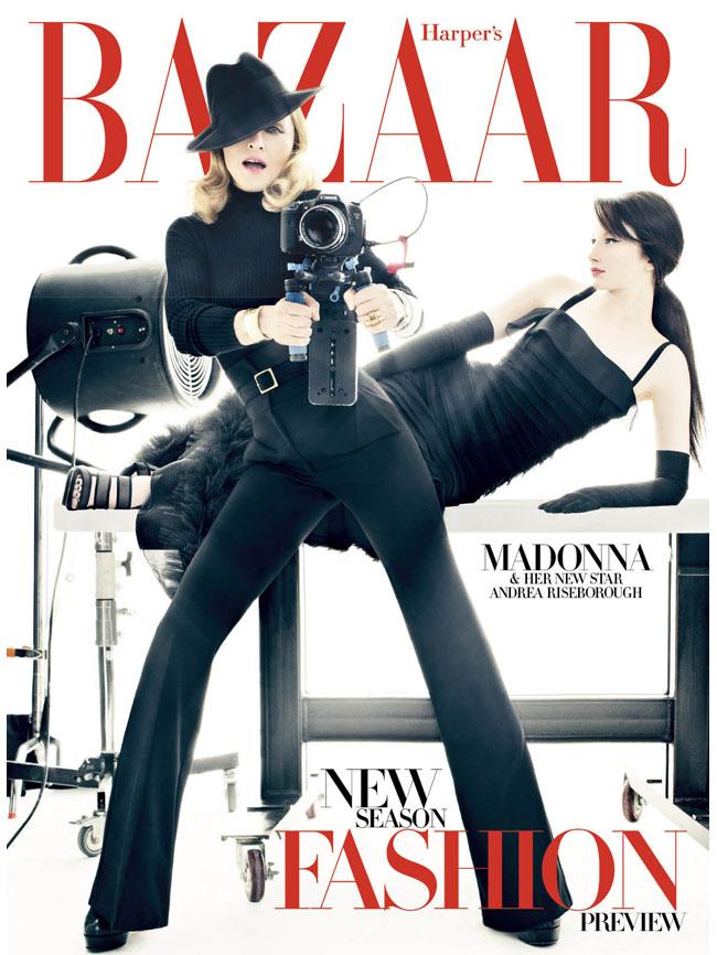 Madonna en la portada de Harper's Bazaar
