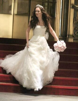 Blair Waldorf de Vera Wang el día de su boda en Gossip Girl