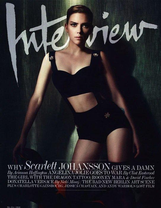 Scarlett Johansson se suma a la moda del fetichismo en la portada de Interview