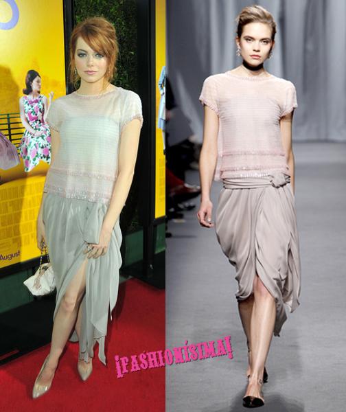 Maravillosa Emma Stone de Chanel Alta Costura