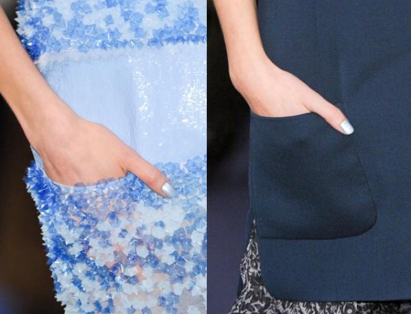 Manicura azul en el desfile de Chanel Alta Costura