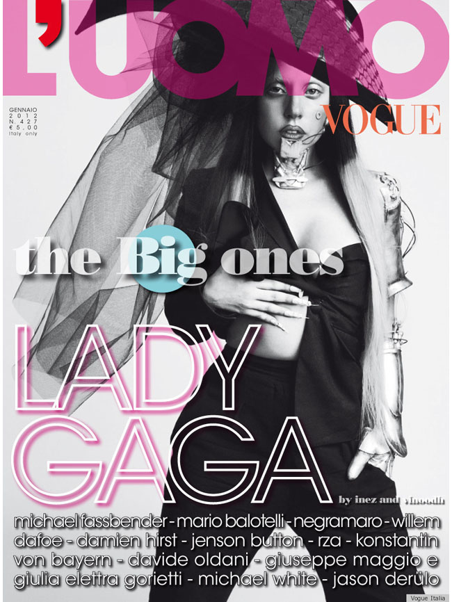 Lady Gaga en la portada de L'Uomo Vogue