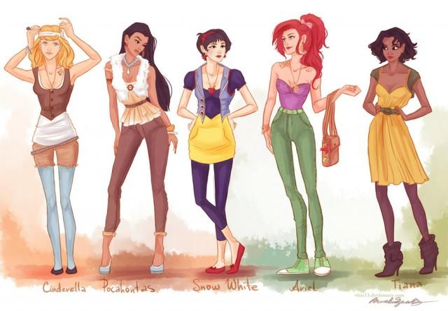 Las princesas Disney se vuelven unas modernas