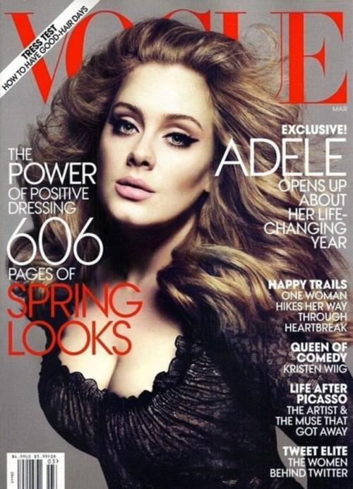 ¡Caramba con Adele! La cantante posa espectacular en la portada de marzo de Vogue