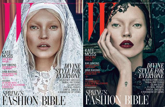 Kate Moss y su par de portadas para W Magazine