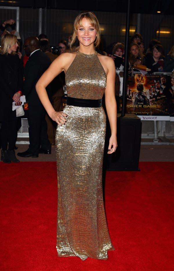 Jennifer Lawrence en la presentación de Los Juegos del Hambre de Londres
