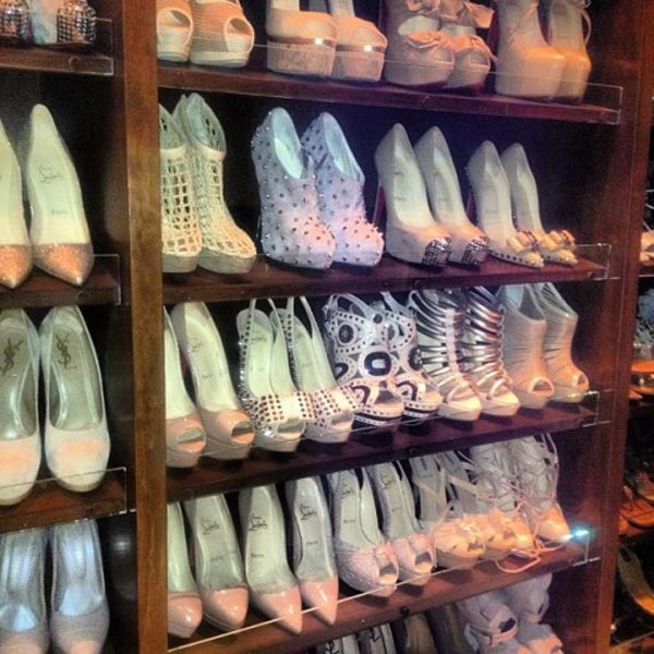 ¡Queremos el armario de los zapatos de Kim Kardashian!
