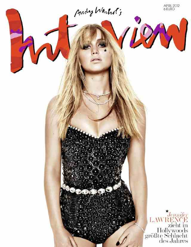 Jennifer Lawrence en la portada de Interview Alemania