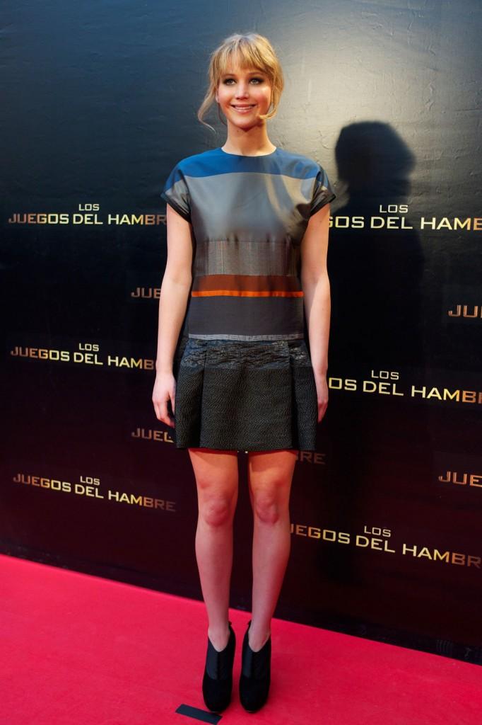 Jennifer Lawrence vistió de Victoria Beckham para la premiere en Madrid de Los Juegos del Hambre