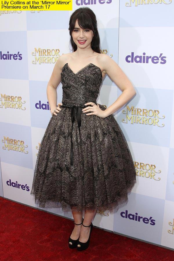 Lily Collins, una verdadera princesa en el estreno de Blancanieves