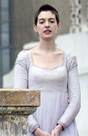 Anne Hathaway ya está grabando Los Miserables, con una pérdida de peso más que notable
