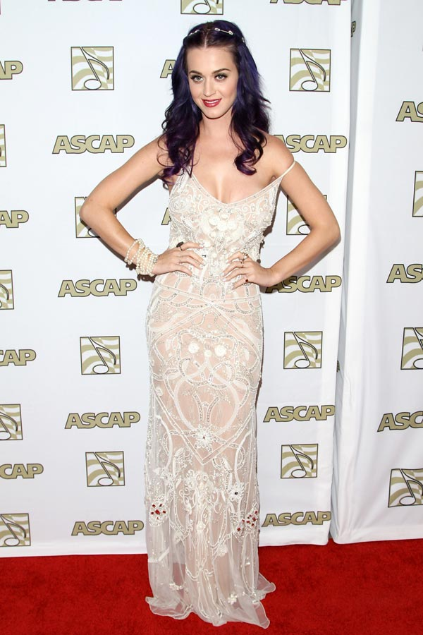Katy Perry, encaje y pedrería en su look para los ASCAP Pop Awards