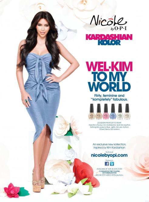 Kim Kardashian, photoshopeadisima en la publicidad de su línea de esmaltes
