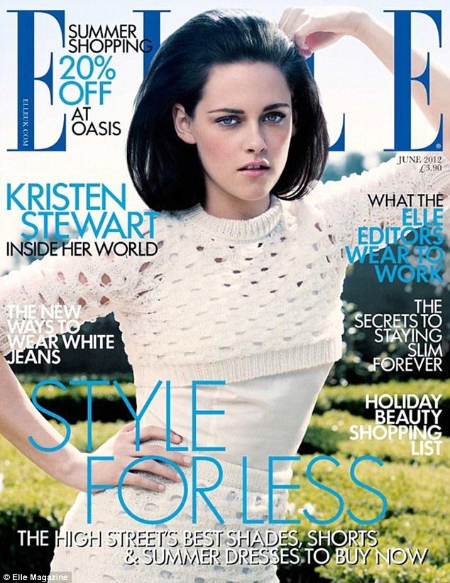 Kristen Stewart en la portada de junio de Elle UK