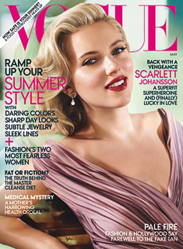 Scarlett Johansson recupera el glamour del Hollywood dorado para Vogue