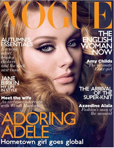 Adele protagoniza la portada de Vogue UK menos vendida