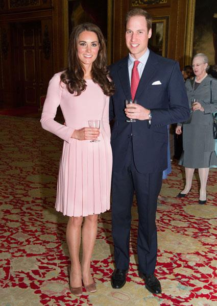 Kate Middleton escogió un vestido rosa para el Jubileo de la Reina de Inglaterra