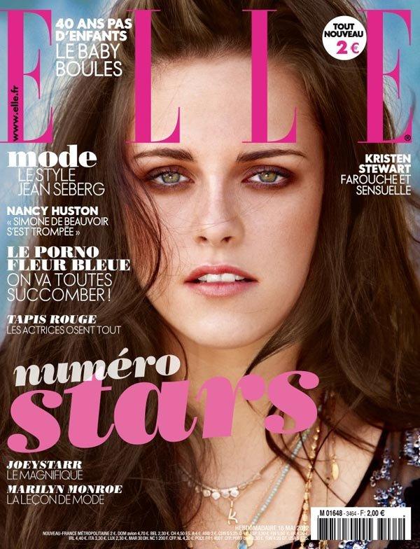 ¿Por qué Kristen Stewart parece el fantasma de los ojos marrones en Elle Francia?
