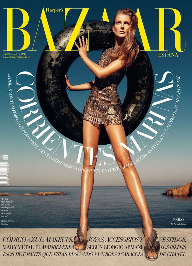 Retocar o no retocar, he ahí la cuestión ¿qué opináis de esta portada de Harper's Bazaar?