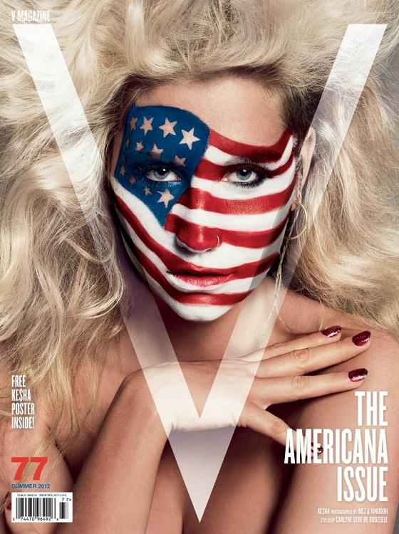 Ke$ha no estaba muerta, estaba pintándose la cara para V Magazine
