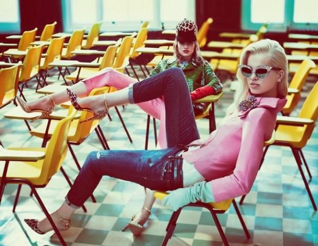 Campaña otoño 2012 de Dsquared2, retro school girl